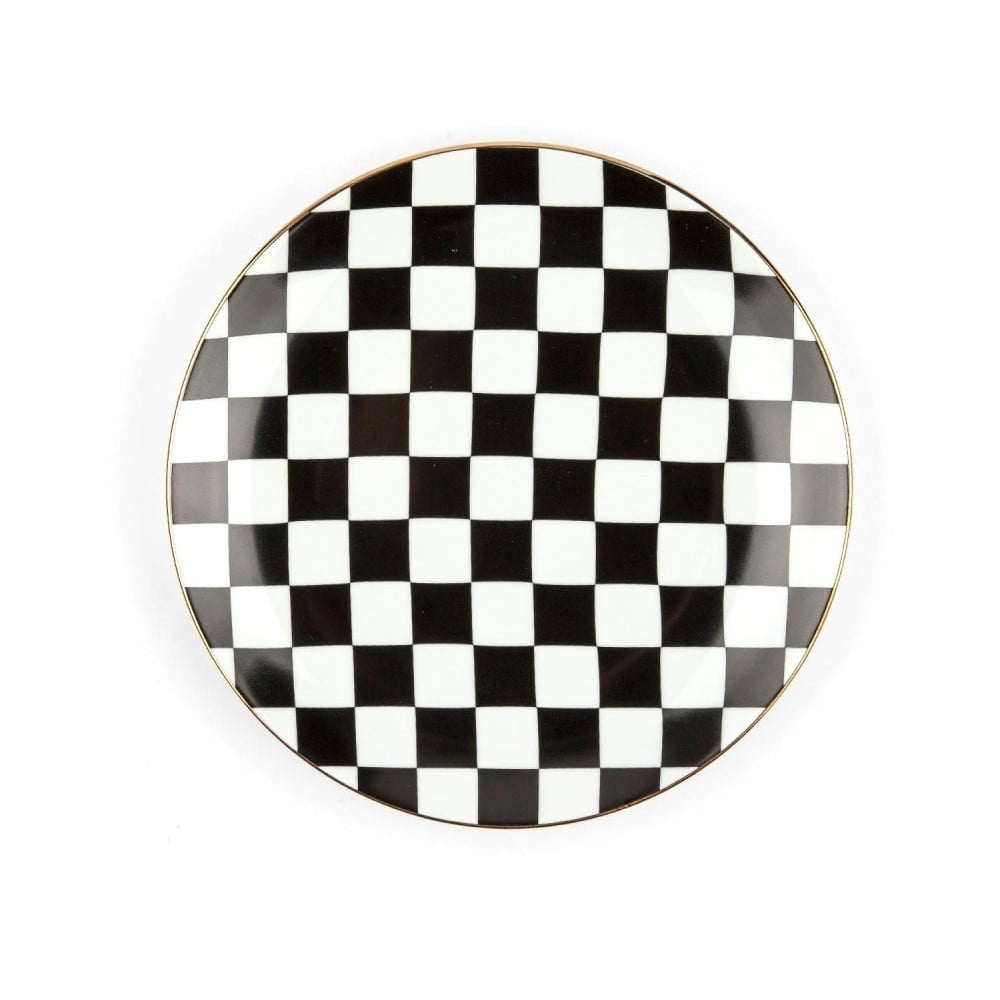 Porcelánový talíř Vivas Check, Ø28cm