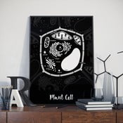 Poster Follygraph Plant Cell Black, 30 x 40 cm