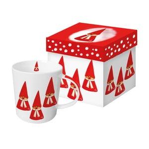 Hrnek z kostního porcelánu s vánočním motivem v dárkovém balení PPD Anneko Gnomes, 350 ml