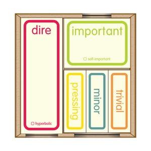 Lepíky na označení priorit Self-Important