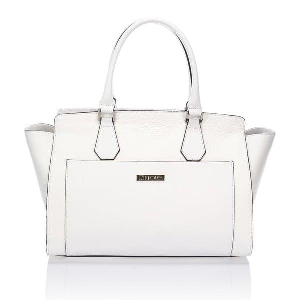 Bílá kožená kabelka Krole Kristen