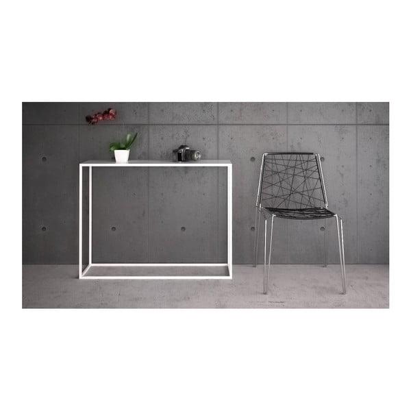 Bílý konzolový stolek take me HOME Aren, 100x30cm