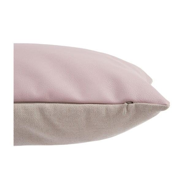 Polštář Leather Pink, 30x50 cm