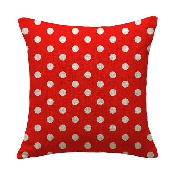 Povlak na polštář Dot Red, 45x45 cm