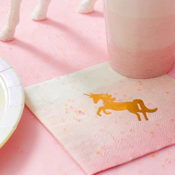 Sada 20 ubrousků Talking Tables We Heart Unicorns