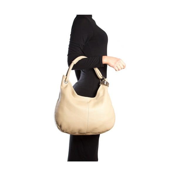 Kožená kabelka Carla Ferreri 1022 Fango