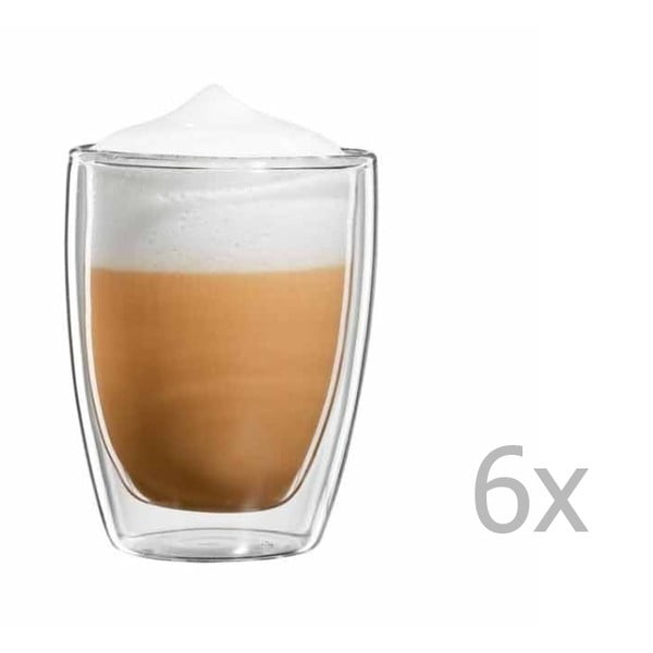 Sada 6 hrnků na cappuccino bloomix Roma