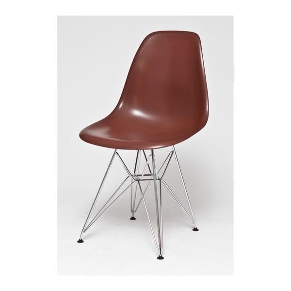 Židle Coffee, chromové nohy
