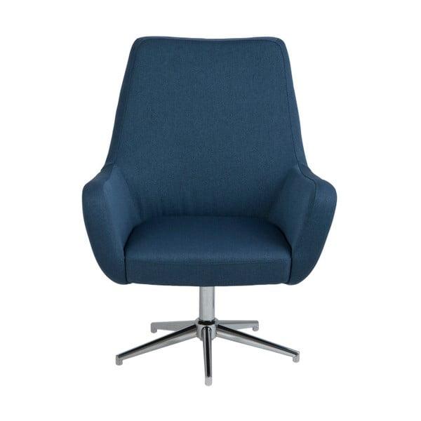Ciemnoniebieski fotel Actona Rylee