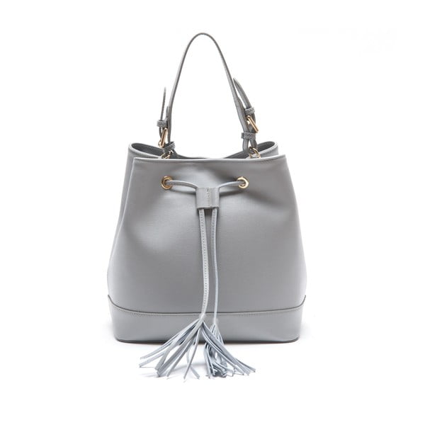 Kožená kabelka Renata Corsi 430, šedá