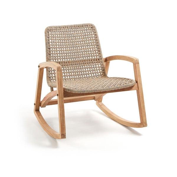 Fotel bujany z drewna eukaliptusa La Forma Taniska