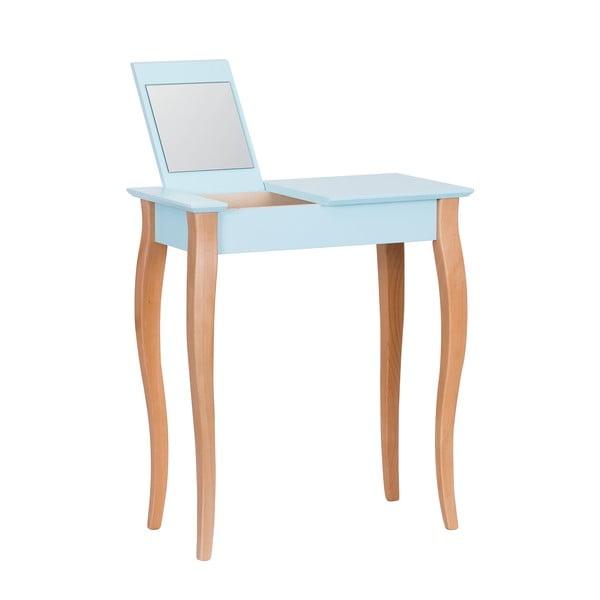 Dressing Table világos türkiz fésülködő asztal tükörrel, hossz 65 cm - Ragaba