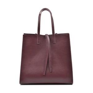 Vínově červená kožená kabelka Mangotti Vera