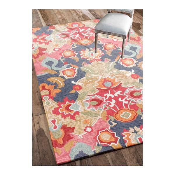 Ručně tuftovaný koberec nuLOOM Florista Multi, 152x244cm