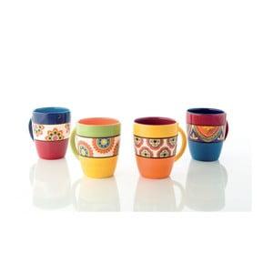Sada 4 barevných keramických hrnků Brandani