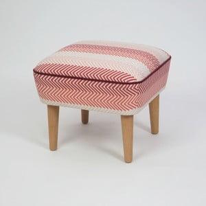 Taburet s dřevěnými nohami Damo Songe, 45x45cm