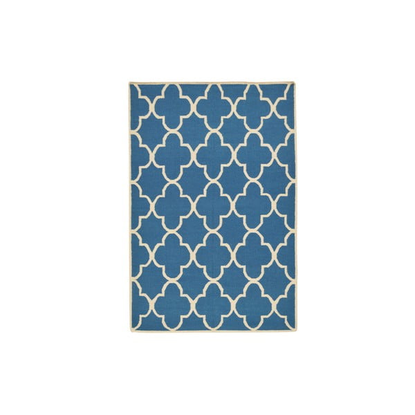 Ručně tkaný koberec Blue Barok Kilim, 158x209 cm