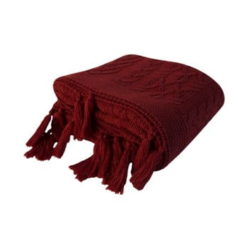 Pătură Daniela, 130 x 170 cm, roșu vișiniu imagine
