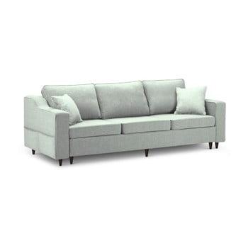 Canapea extensibilă cu 3 locuri și spațiu de depozitare Mazzini Sofas Narcisse, verde deschis de la Mazzini Sofas