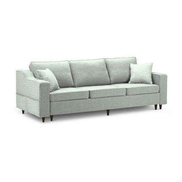 Jasnozielona 3-osobowa sofa rozkładana z miejscem do przechowywania Mazzini Sofas Narcisse