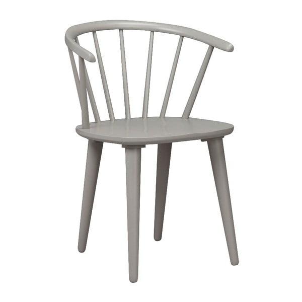 Jasnoszare krzesło do jadalni z drewna kauczukowca Folke Carmen