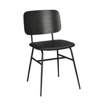 Scaun cu șezut negru Rowico Brent, negru imagine