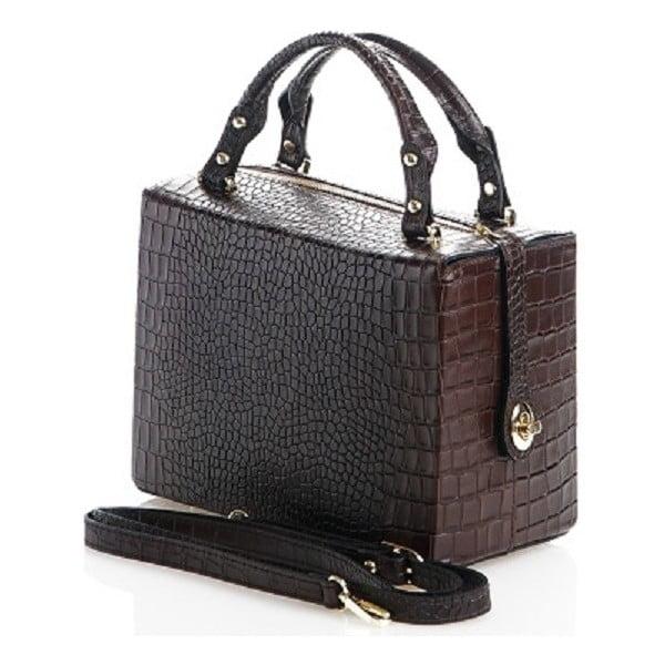 Kožená kabelka Emilie, hnědá