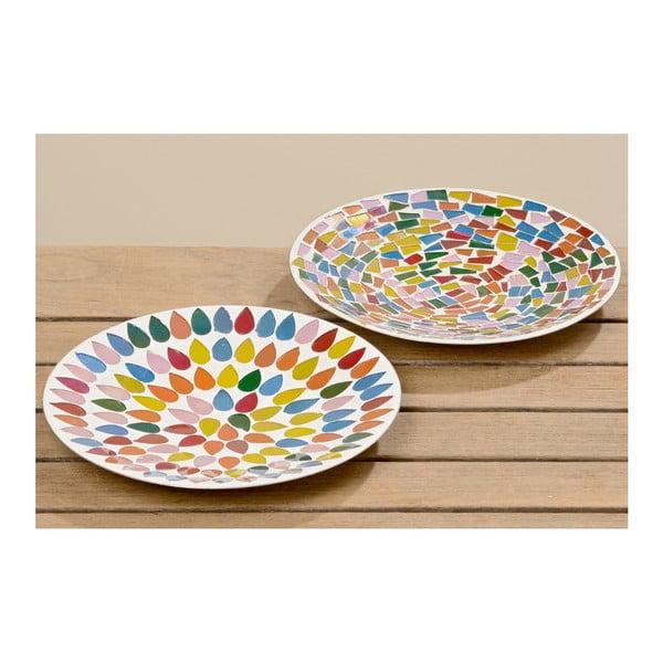 Sada 2 dekorativních talířů Boltze Crazy