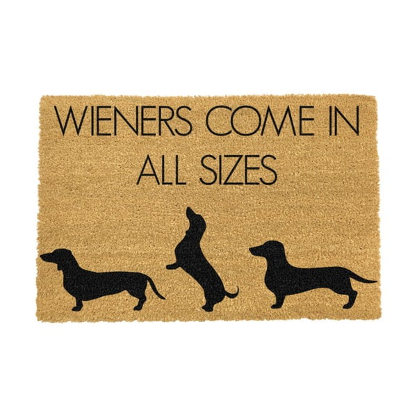 Covoraș intrare din fibre de cocos Artsy Doormats Weiners Come In All Sizes, 40 x 60 cm