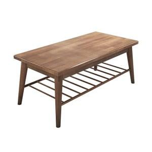 Hnědý konferenční stolek z borovicového dřeva Sakura