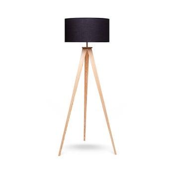 Lampadar cu picioare din lemn loomi.design Karol, negru-natural de la loomi.design