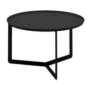 Černý příruční stolek MEME Design Round, Ø60cm