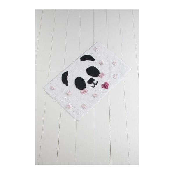 Černo-bílá koupelnová předložka Crasso Panda, 100 x 60 cm