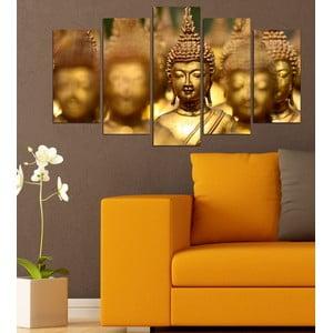 5dílný obraz Buddha