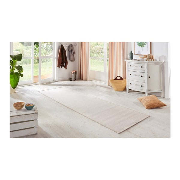 Bílý běhoun BT Carpet Nature, 80 x 250 cm