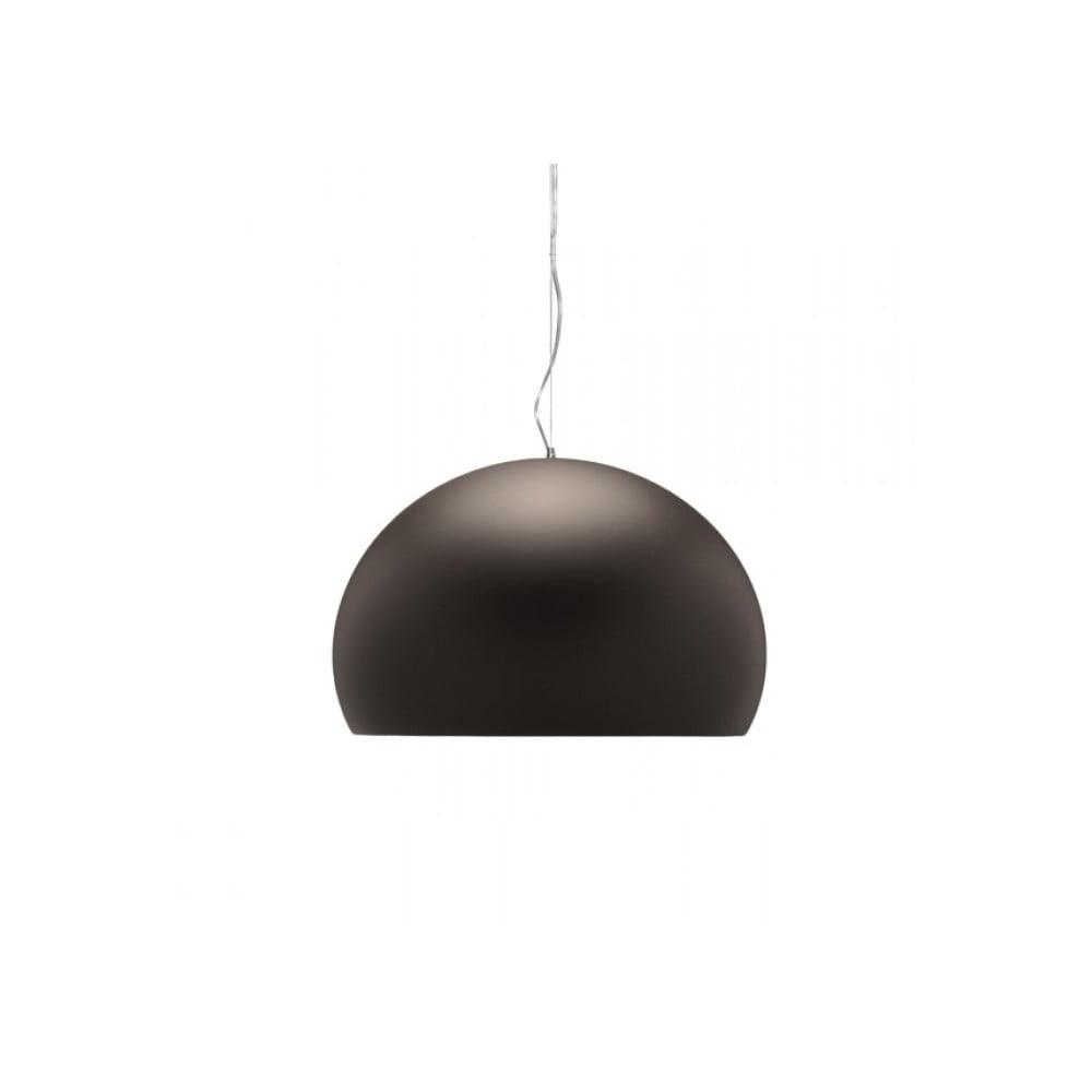 Hnědé stropní svítidlo Kartell Fly, ⌀ 38 cm
