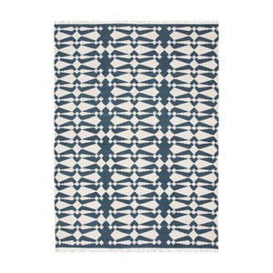 Modro-bílý ručně tkaný koberec Linie Design Andria,140x200cm