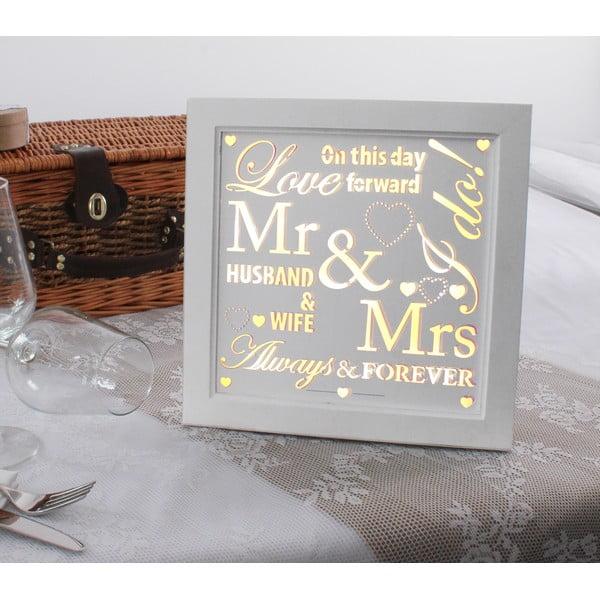 Svatební dekorace na stůl s LED světly This Way