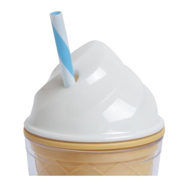 Bílý dvoustěnný kelímek Sunnylife Ice Cream, 470 ml