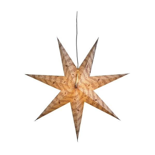 Závěsná svítící hvězda Musica, Ø75 cm, šedá