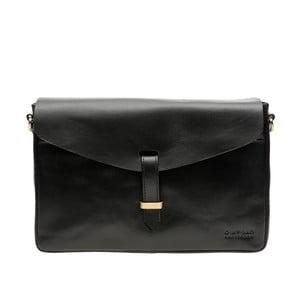 Kožená kabelka Ally, černá