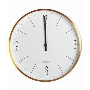 Nástěnné bílo-zlaté hodiny House Doctor Couture Gold, ⌀30cm