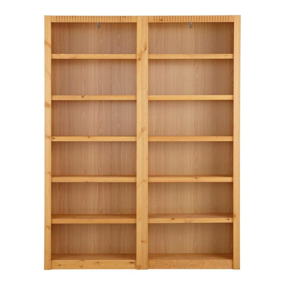 Knihovna z borovicového dřeva Støraa Bailey, 164x213cm