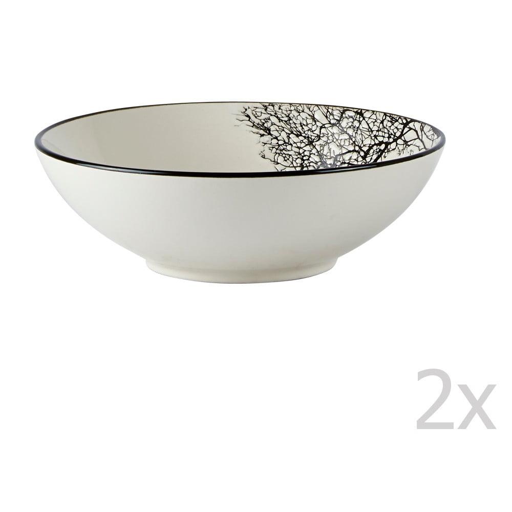 Sada 2 talířů na polévku Galzone Sand