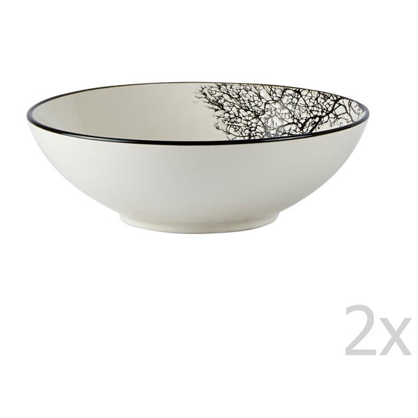 Sada 2 talířů na polévku KJ Collection Sand