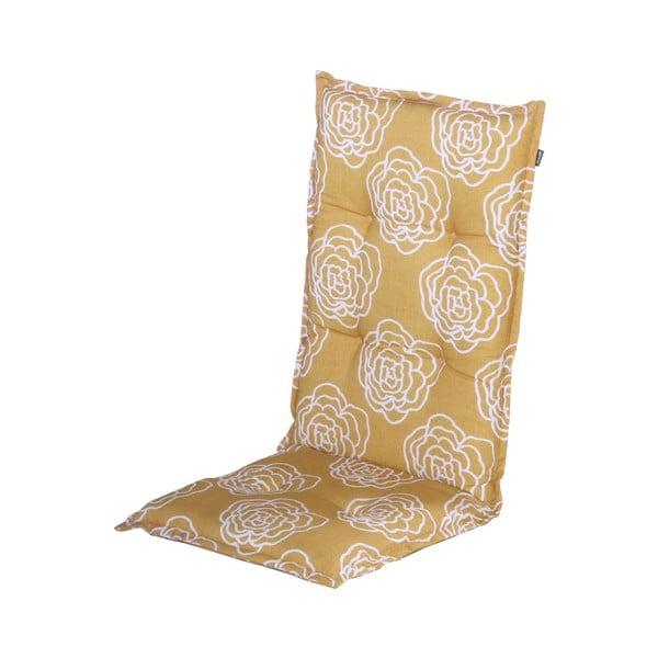 Saltea scaun grădină Hartman Peonie, 123 x 50 cm, galben