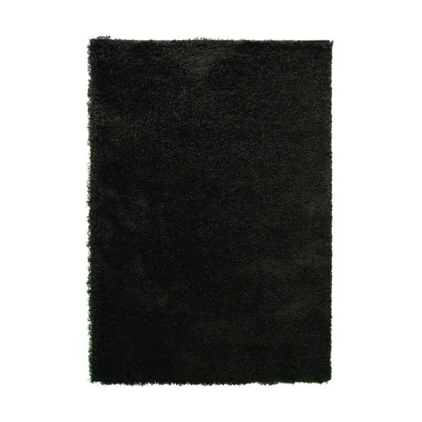 Černý koberec Flair Rugs Cariboo Black, 60x110cm