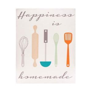 Dřevěný obraz Happiness is Homemade, 20x25 cm