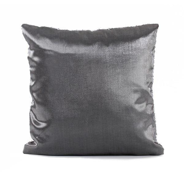 Flitrovaný polštář Shiny Grey, 43x43 cm