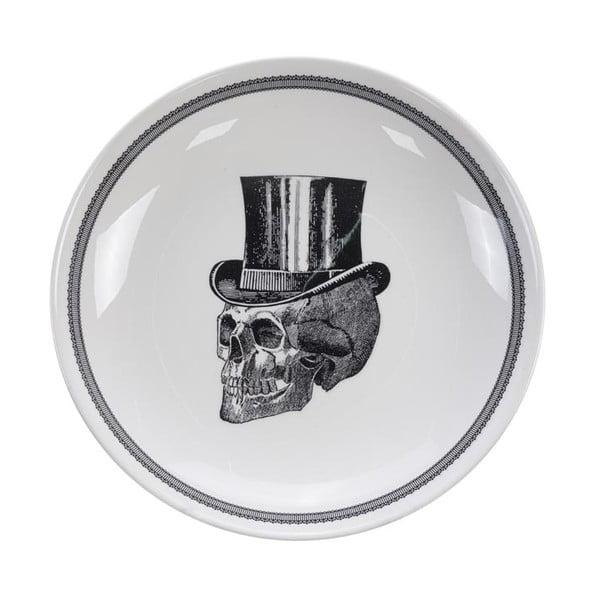Bol Tokyo Design Studio Skull, ø 24,5 cm, alb-negru